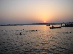 Sun Gets Blessings Of  Ganga Mai