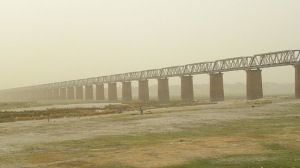 Jhunsi Bridge Over Ganges