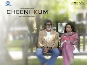 Tabu And Amitabh In  Cheeni Kum