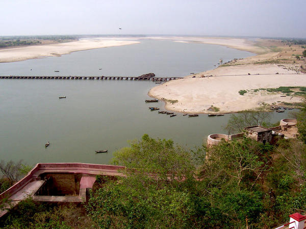 View of The Ganges  From Chunar Fort