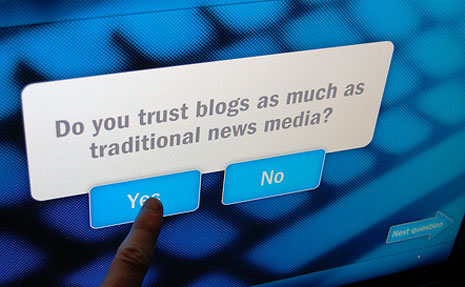 The difference between blogger and journalist should exist