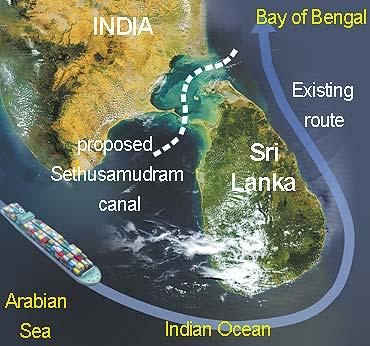 Sethusamudaram Map