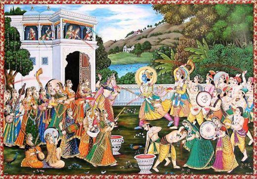 राधा कृष्ण के प्रेम की याद दिलाता होली। उनके सखा सखियों, उनके गौओं, बछड़ो सबकी याद दिलाता :-)
