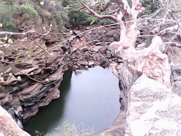 Water At The Base Of These Ancient Rocks At Sidhhanath Ki Dari!