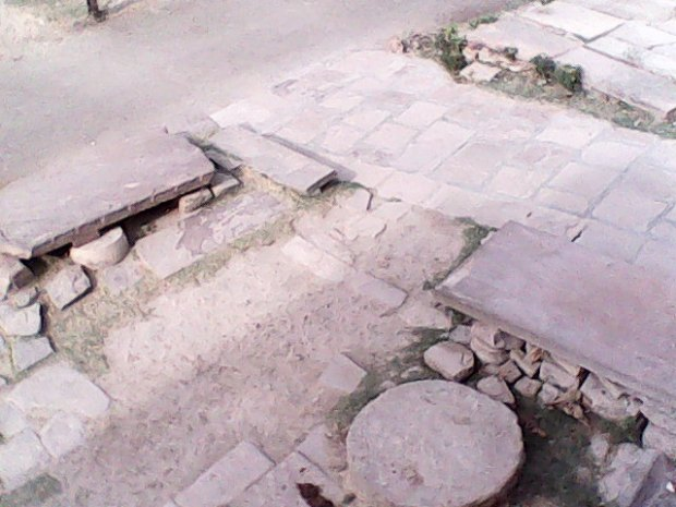 The Post Match Discussions Always Took Place On These Two Rectangle Shaped Stones :P
