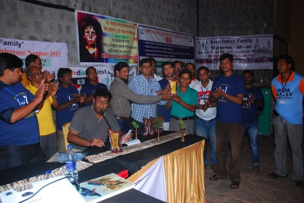 Author Of This Blog Post Being Awarded At Men's Rights  Conference Held In August, 2013, in Nagpur.