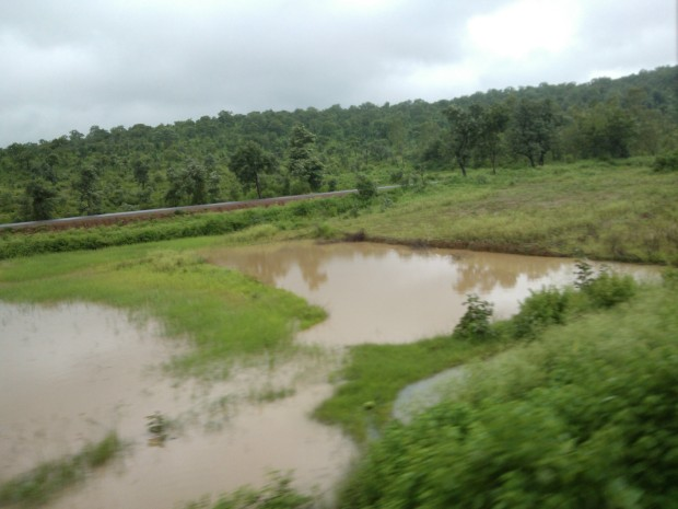 View Outside The Train's Window In Rainy Season Is A Treat For The Eyes :-)
