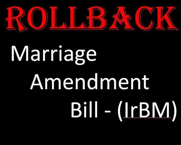इन अपूर्ण, गलत और भ्रामक संशोधनों को वापस लिया जाए. कानून को लिंगभेद से ऊपर रखा जाए (जेंडर न्यूट्रल), पति या पत्नी शब्द को जीवनसाथी (spouse) शब्द से सम्बोधित किया जाए.
