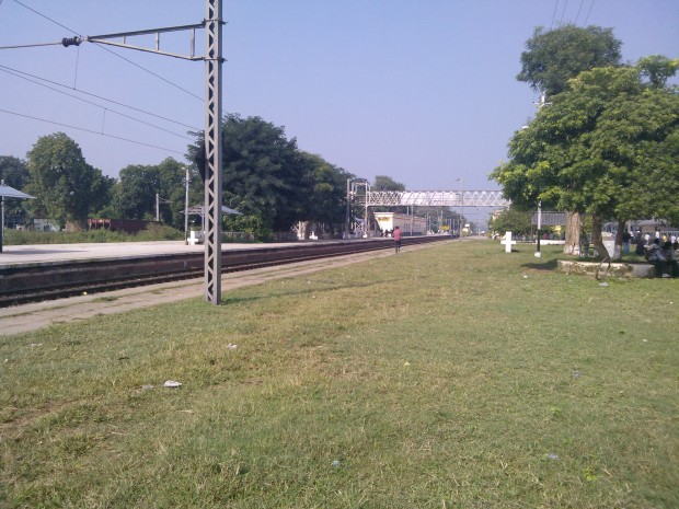 At Manda Railway Station ....This place is associated with former Prime minister of India Vishhwanath Pratap Singh...