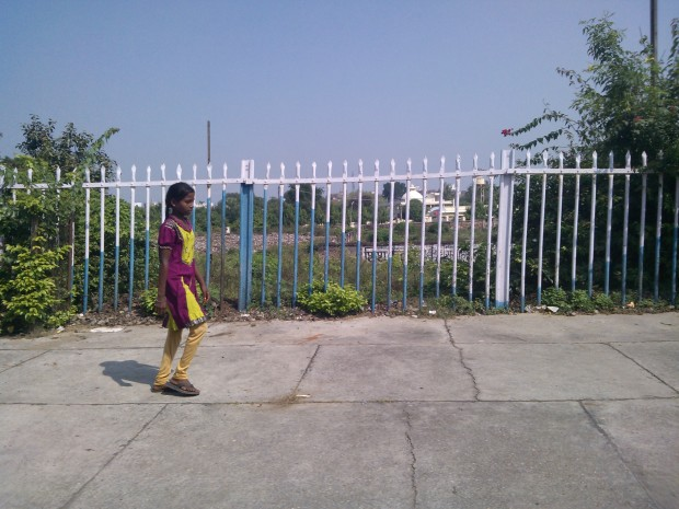A girl at Vindhyachal Railway Station...