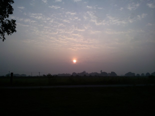 That's the way morning sun greets me at my new home in village...I have an old home also built by the ancestors but it will appear part II of travelogue!