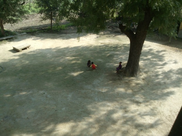 Kids playing close to my old ancestral home :P