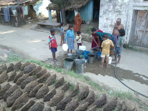 Although village hand pumps are working smoothly, it's the scenario when tube well's supply is available :-)
