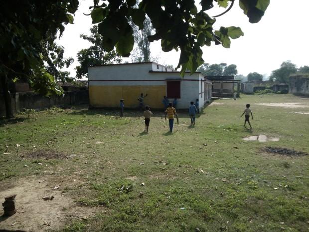 Kids Playing Cricket....