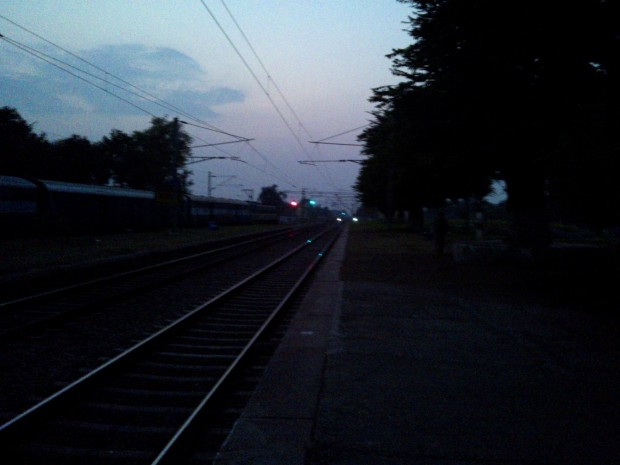 Happily Train Was Late...My Beautiful Station Looked Awesome As The Dusk Came To Envelop It..Sipping The Tea I Remained Lost In So Many Thoughts...
