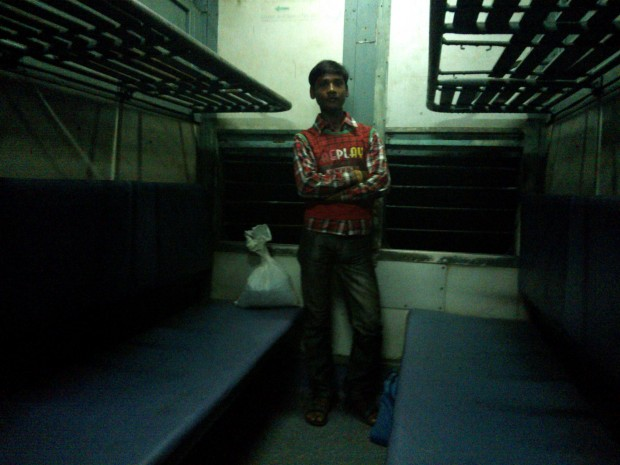 Managed To Find One Passenger In My Compartment..But He Too Left Me All Alone After Two Stations...Anyway, This Sort Of Royal Feeling You Can Never Get In Jam-packed Mail/Express Trains :P :P :P