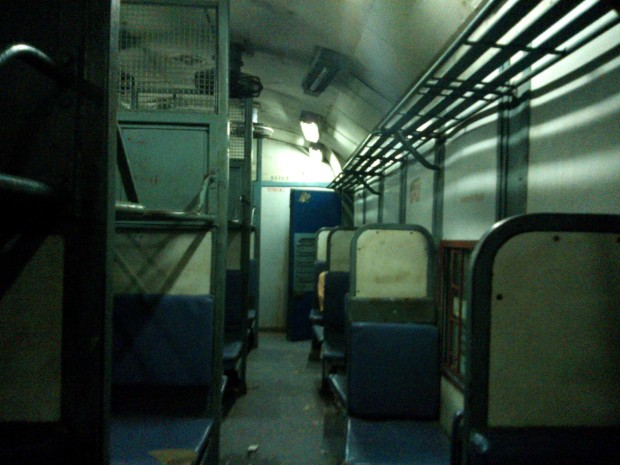 The Evening Passenger Train Makes You Feel Like King...See The Empty Coach..And You Would Not Believe It's Empty Like This Through The Whole Journey :-) :-)  It's A Very Romantic Affair To Be All Alone This Way :P