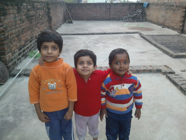 One of the reasons to be at Village is that it sustains my romance with nature..And one of the reasons to be in Allahabad is that it sustains my love for these cute kids ....They are not innocent as they appear :P :P :P...The third one from the left is my cousin :P