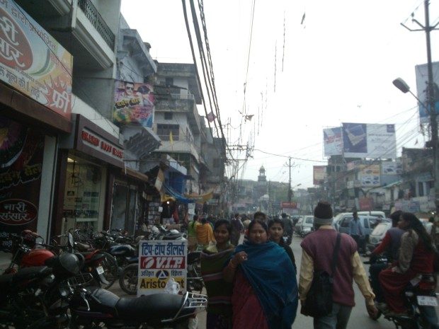 A Busy Street In Chowk Area. It's always a great rush here!