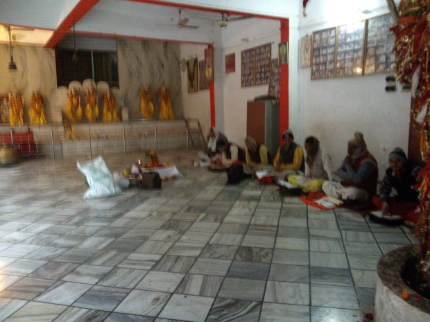 Actvities like Ved Paatha always takes place inside Lalita Devi Temple :-)  Sadly, I could not get a better image :-(