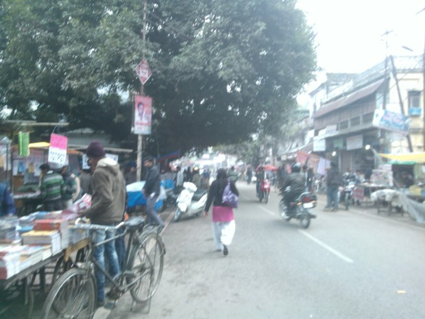 Notice the activities on main Univesrity Road.  Streets remain the same but faces of students get changed!
