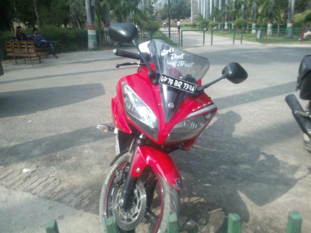 "Noticed this depressed motor bike inside Khusro Bagh :P :P :P  ""Girls don't trust me""  :P :P :P"