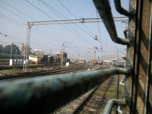 My Train To Varanasi  Just Left  Allahabad Junction's paltform :-)