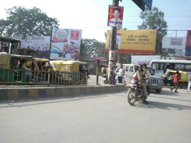 The Square (read crossing) always enjoys a heavy traffic in Varanasi :-)