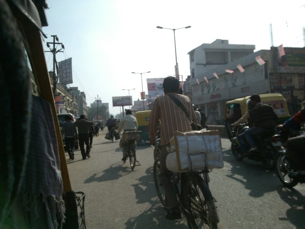 You will not find streets empty in Varanasi :P