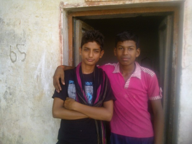 Captured two naughtiest boys :P They are also part of our Village cricket team :P :P :P