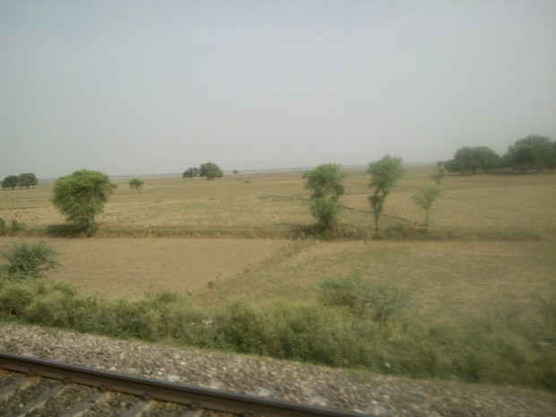 Scenes outside the train's window as it makes me reach my station Pahara :-)