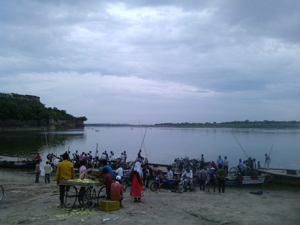 That's The Ghat (River Bank) at Chumar's Side...