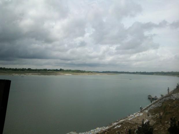 Ganges In Mirzapur Exhibiting  Her Hugeness...