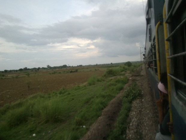 Express train was running like a passenger train owing to track related problems :P