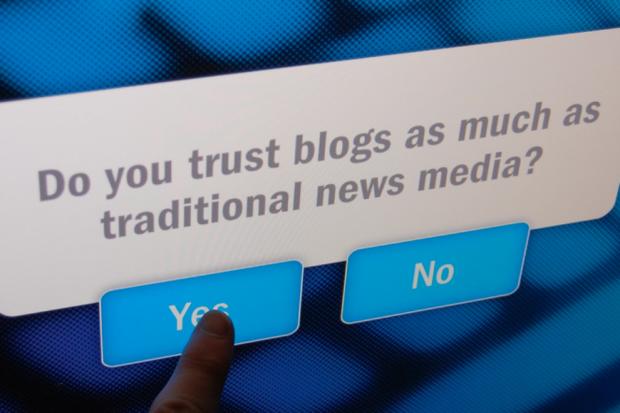 ब्लॉग्स पर एक समझदार आदमी ज्यादा भरोसा करता है!