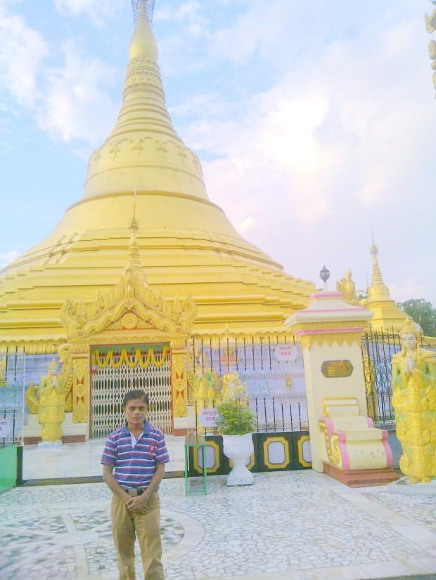Standinf Before Burmese Pagoda In Kushinagar :-)