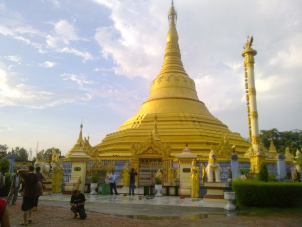 That's The Temple Built By Myanmar. It's Called Burmese Pagoda!