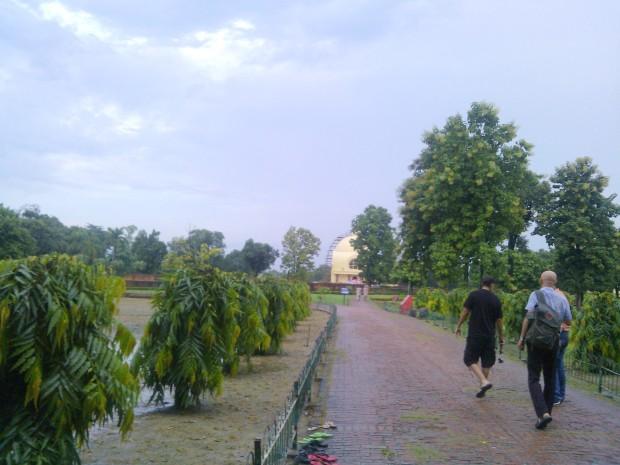 Inside Mahaparinirvana Temple which hosts Reclining Buddha!