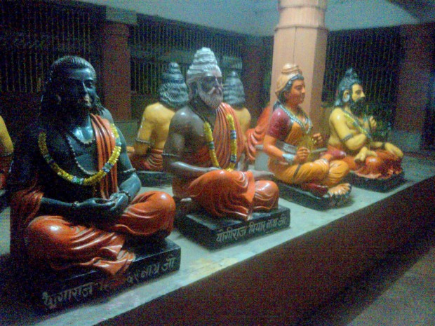 Beautiful Statues Of Various Yogis Inside The Temple :-)