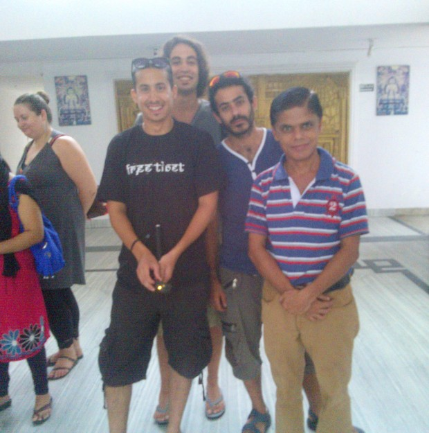 All Of Us At Hotel Pathik Niwas In Kushinagar :P
