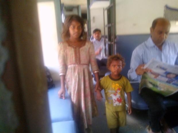 Noticed These Children Of Lesser Gods Inside My Train's Compartment! Beautiful Faces Mired In Pain!!