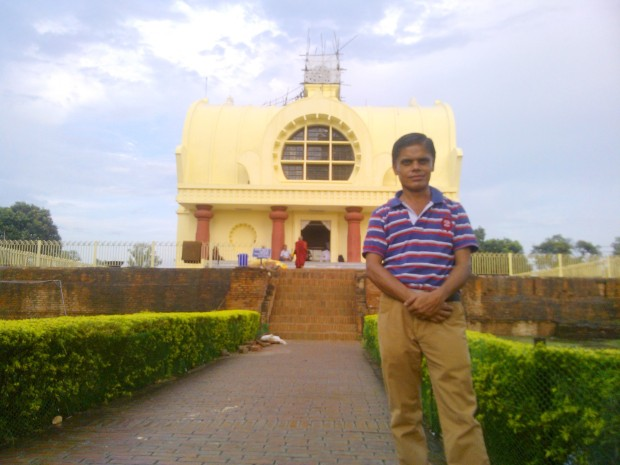Standing Outside Mahaparinirvana Temple In Kushinagar :-)