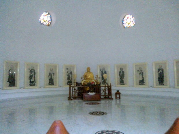 Inside View Of  Sri Lankan- Japan Temple! This is used as place for meditation. I saw many people meditating at this place.