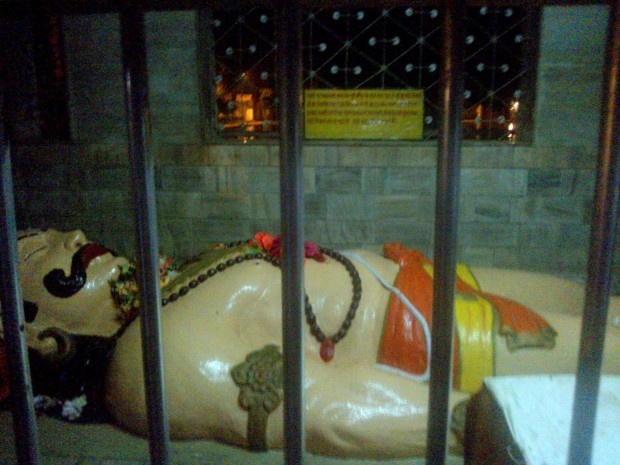 That's Bheem Ji In Sleeping Mudra Inside This Temple :-)