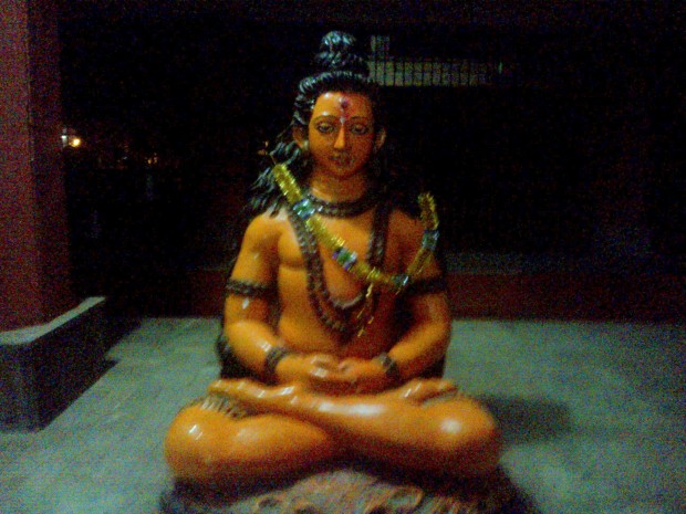 Impressive Statue Of Lord Shiva Placed Inside The Temple :-) Om Namah Shivay :-)