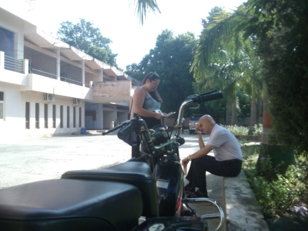 Dr. Genady Making Alexandra Rehearse Her Lesson Before The Start Of Program At University :-)