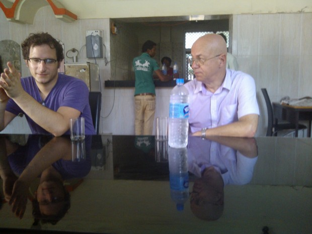 Offir whose Hindi was better than others in discussion with Mr. Genady :-)