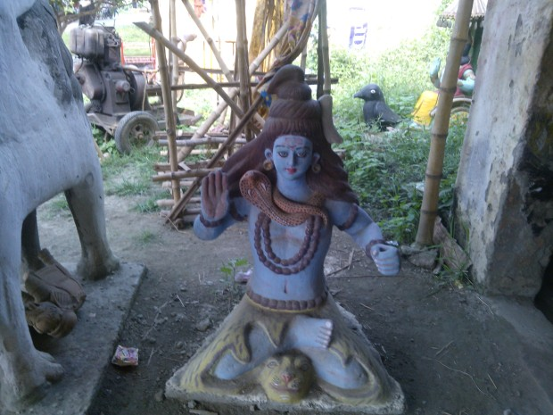 Shiva Carved With Help Of  Terracotta :-)