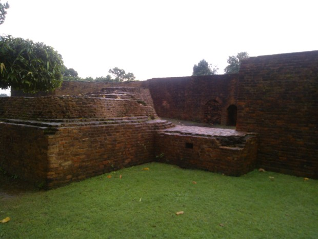 The Structures Unearthed During Excavation At This Mahaparinirvana Temple.