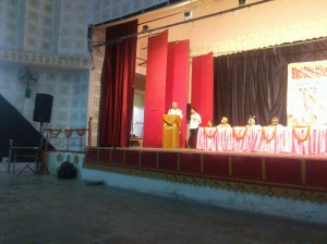 Justice Sakharam addressing the audience.